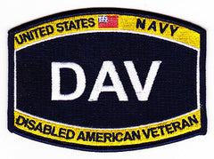 US NAVY DISABLED AMERICAN VETERAN - DAV MILITARY PATCH