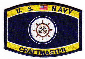 United States NAVY Line Command Rating Craft Master Military Patch
