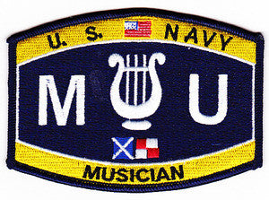United States Navy Technical Deck Rating Musician Military Patch MU