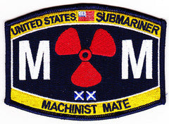 United States NAVY Engineering Rating Submarine Engineer Machinist Mate Military Patch MM