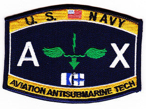 United States NAVY Aviation Rating Aviation Antisubmarine Technician Military Patch AX