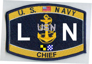 United States Navy Deck Rating Chief Legalman Military Patch LNC