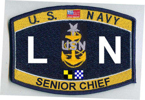Senior Chief Legalman Rating Navy Military Patch LNCS