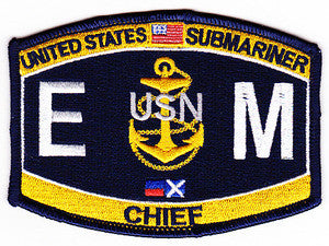 Submariner Chief Electrician's Mate Military Patch EMC-SS