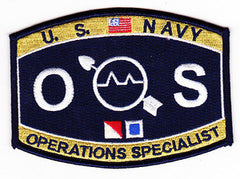 United States NAVY Weapons Specialist Rating Operations Specialist Military Patch OS