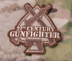 21st CENTURY GUNFIGHTER SPADE TACTICAL COMBAT BADGE - DESERT