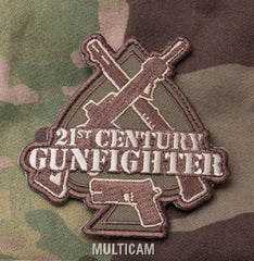 21st CENTURY GUNFIGHTER SPADE TACTICAL COMBAT BADGE - MULTICAM