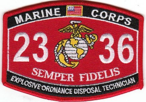"USMC ""EXPLOSIVE ORDNANCE DISPOSAL TECH"" 2336 MOS MILITARY PATCH"