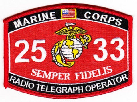 "USMC ""RADIO TELEGRAPH OPERATOR"" 2533 MOS MILITARY PATCH"