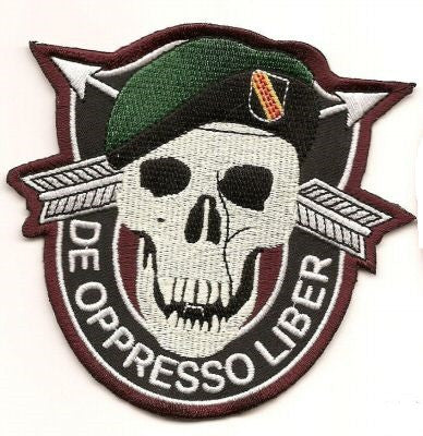 Special Forces BLACK OPS Military Patch - DE OPPRESSO LIBER