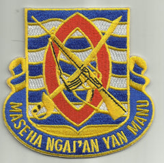294th Infantry Regiment Unit Crest (Maseha Ngai'an Yan Manu) MILITARY PATCH
