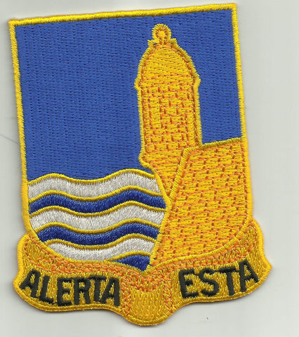 296th Infantry Puerto Rico Army National Guard Unit Crest military PATCH