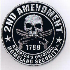 2nd Amendment America's Original Homeland Security Biker Military Patch