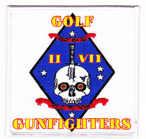 US MARINE CORPS Golf Company 2nd Battalion 7th Marine YIELD TO NONE GUNFIGHTERS