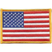 USA American Flag Hook Patch - Full Color