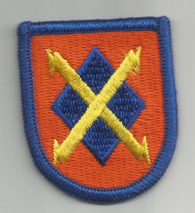 ARMY - 35th SIGNAL BRIGADE BERET MILITARY FLASH PATCH - B