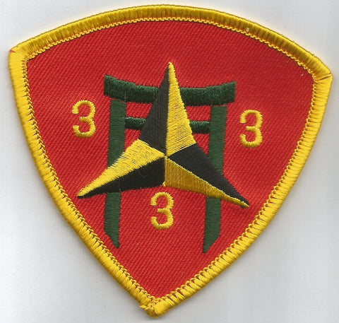 USMC 3rd MARINE 3rd BATTALION MILITARY PATCH