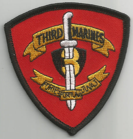 USMC 3rd MARINE REGIMENT MILITARY PATCH - 3rd MARINES