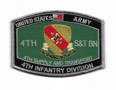 4th INFANTRY DIVISION ARMY PATCH 4th SUPPLY AND TRANSPORT