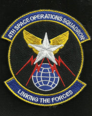 4th Space Operations Squadron Hook and Loop Velcro Military Patch LINKING THE FORCES