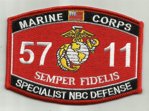 "USMC ""SPECIALIST NBC DEFENSE "" 5711 MOS MILITARY PATCH"