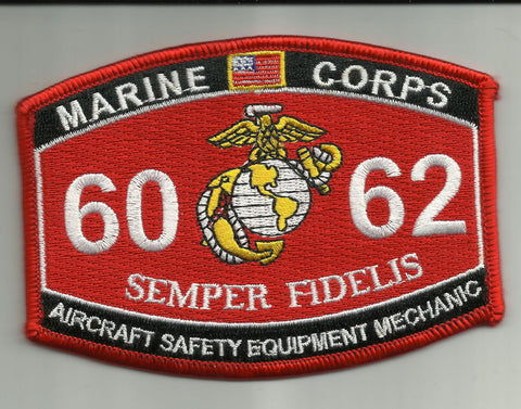"6062 USMC ""AIRCRAFT SAFETY EQUIP- MECHANIC"" MOS MILITARY PATCH"
