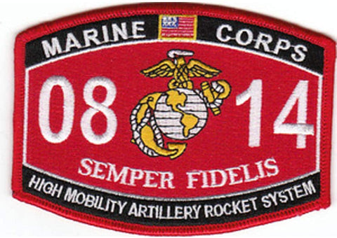 0814 High Mobility Artillery Rocket System USMC MOS Military Patch SEMPER FIDELIS