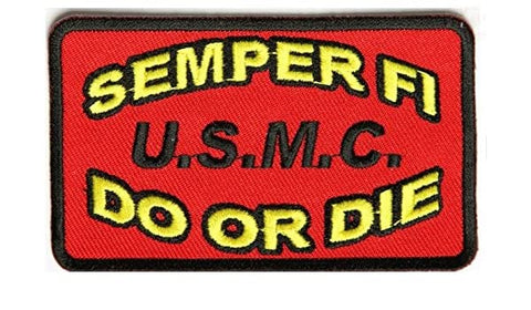 SEMPER FI DO OR DIE USMC PATCH