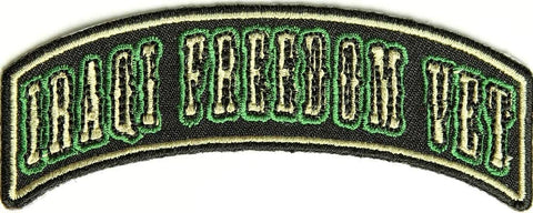 IRAQI FREEDOM VET MINI ROCKER TAB PATCH