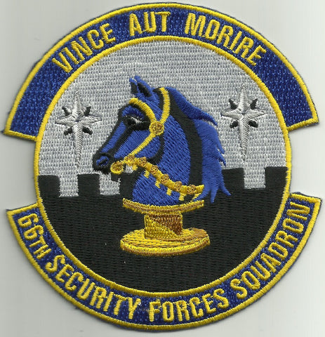 66th Security Forces Squadron USAF Military Patch VINCE AUT MORIRE