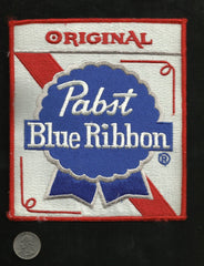 LARGE Original Pabst Blue Ribbon Beer Collectors Back Patch VINTAGE