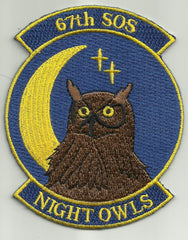 USAF 67th Special Operations Squadron Military Patch - 67th SOS NIGHT OWLS