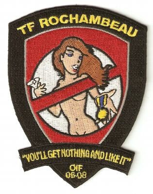 ARMY 1st Battalion 227th Aviation Regiment 1st Air Cavalry Division Military Patch OIF TF ROCHAMBEAU YOU'LL GET NOTHING AND LIKE IT