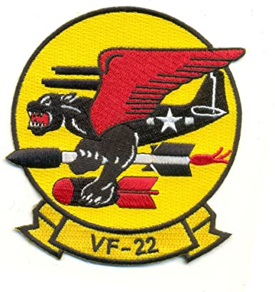 VF-22 Fighter Squadron Navy Military Patch WINGED PANTHER