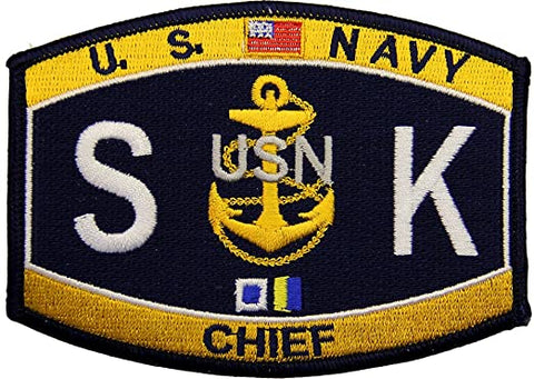 Navy Chief Store Keeper Rating Military Patch SKC
