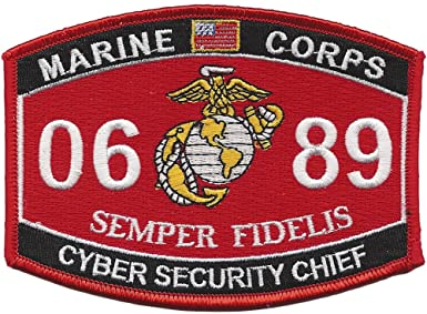 0689 CYBER SECURITY CHIEF USMC MOS MILITARY PATCH SEMPER FIDELIS