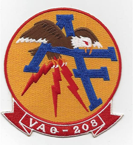 VAQ-208 TACTICAL ELECTRONICS WARFARE SQUADRON MILITARY PATCH