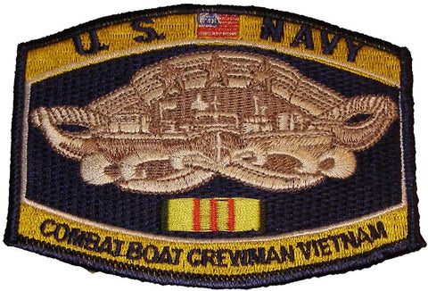 Combat Boat Crewman Vietnam Navy Hat Patch