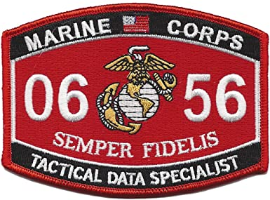 0656 TACTICAL DATA SPECIALIST USMC MOS MILITARY PATCH SEMPER FIDELIS