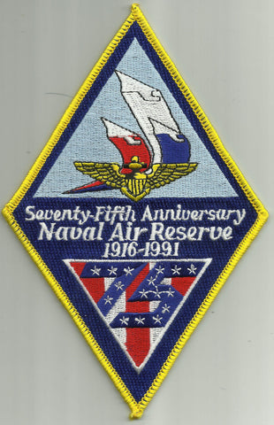 75TH SEVENTY FIFTH ANNIVERSARY NAVAL AIR RESERVE 1916-1991 MILITARY PATCH