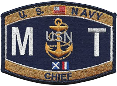 Navy Chief Missile Technician Rating Military Patch MTC