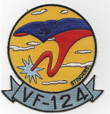 VF-124 Navy Fighter Squadron Military Patch STINGERS