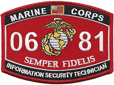 0681 INFORMATION SECURITY TECHNICIAN USMC MOS MILITARY PATCH SEMPER FIDELIS