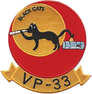 VP-33 Patrol Squadron Navy Patch BLACK CATS