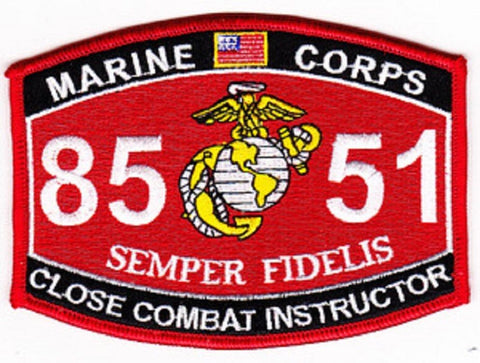 "8551 USMC ""CLOSE COMBAT INSTRUCTOR"" MOS MILITARY PATCH"