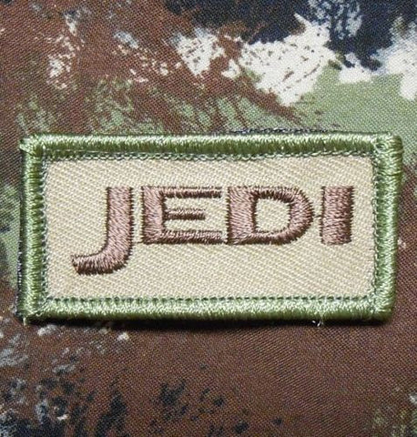JEDI TACTICAL BADGE MORALE HOOK BACKING PATCH - MULTICAM