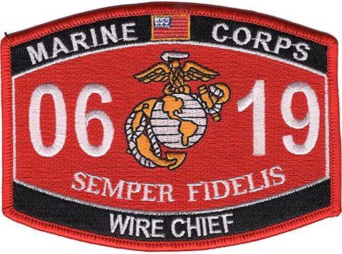 0619 WIRE CHIEF USMC MOS MILITARY PATCH SEMPER FIDELIS