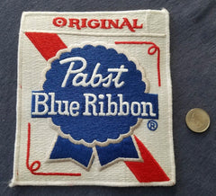 LARGE Original Pabst Blue Ribbon Beer VINTAGE white border