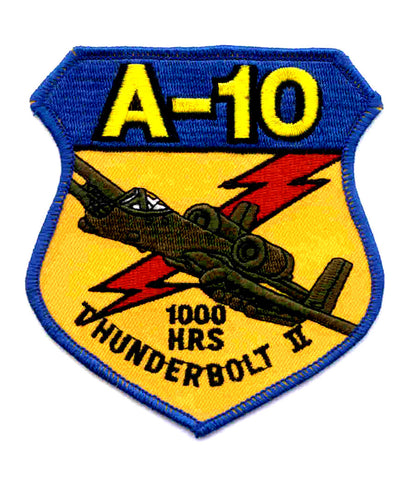 USAF A-10 Thunderbolt II 1000 Hours Military Patch - United States Air Force