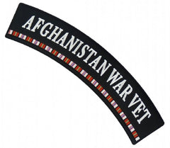 AFGHANISTAN WAR VET UPPER TOP ROCKER PATCH - RIBBON